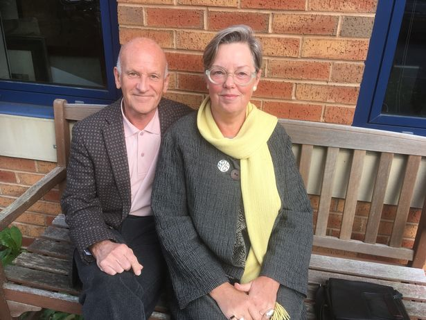 John Sandford and his wife, Jill Hayfield (Image: Reach Plc)